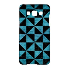 Triangle1 Black Marble & Teal Brushed Metal Samsung Galaxy A5 Hardshell Case