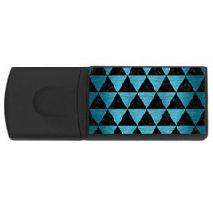 Triangle3 Black Marble & Teal Brushed Metal Rectangular Usb Flash Drive by trendistuff