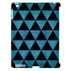 Triangle3 Black Marble & Teal Brushed Metal Apple Ipad 3/4 Hardshell Case (compatible With Smart Cover) by trendistuff