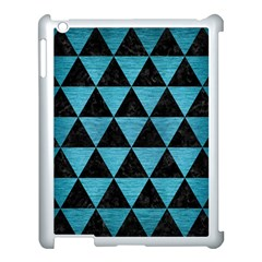 Triangle3 Black Marble & Teal Brushed Metal Apple Ipad 3/4 Case (white) by trendistuff