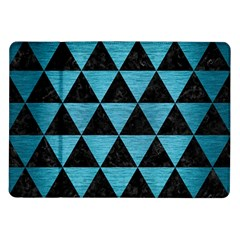 Triangle3 Black Marble & Teal Brushed Metal Samsung Galaxy Tab 10 1  P7500 Flip Case by trendistuff