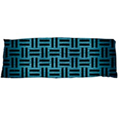 Woven1 Black Marble & Teal Brushed Metal Body Pillow Case Dakimakura (two Sides) by trendistuff