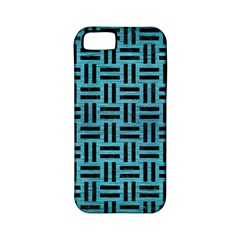 Woven1 Black Marble & Teal Brushed Metal Apple Iphone 5 Classic Hardshell Case (pc+silicone) by trendistuff