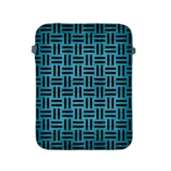 Woven1 Black Marble & Teal Brushed Metal Apple Ipad 2/3/4 Protective Soft Cases by trendistuff