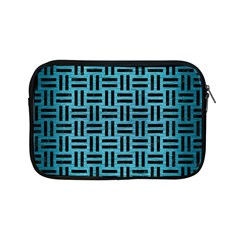 Woven1 Black Marble & Teal Brushed Metal Apple Ipad Mini Zipper Cases by trendistuff