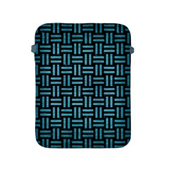 Woven1 Black Marble & Teal Brushed Metal (r) Apple Ipad 2/3/4 Protective Soft Cases by trendistuff