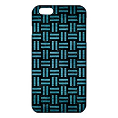 Woven1 Black Marble & Teal Brushed Metal (r) Iphone 6 Plus/6s Plus Tpu Case by trendistuff