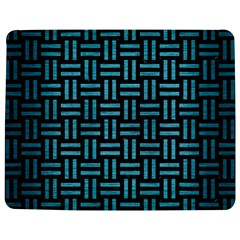 Woven1 Black Marble & Teal Brushed Metal (r) Jigsaw Puzzle Photo Stand (rectangular) by trendistuff