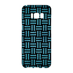 Woven1 Black Marble & Teal Brushed Metal (r) Samsung Galaxy S8 Hardshell Case  by trendistuff