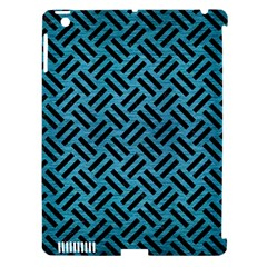 Woven2 Black Marble & Teal Brushed Metal Apple Ipad 3/4 Hardshell Case (compatible With Smart Cover) by trendistuff