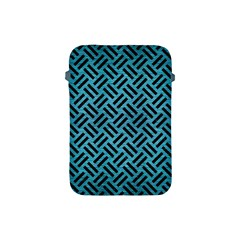 Woven2 Black Marble & Teal Brushed Metal Apple Ipad Mini Protective Soft Cases by trendistuff