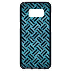 Woven2 Black Marble & Teal Brushed Metal Samsung Galaxy S8 Black Seamless Case by trendistuff
