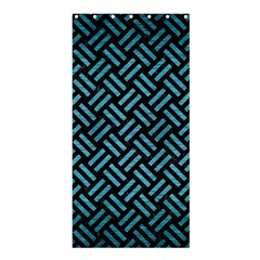 Woven2 Black Marble & Teal Brushed Metal (r) Shower Curtain 36  X 72  (stall)  by trendistuff