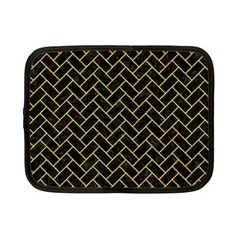 Brick2 Black Marble & Yellow Denim (r) Netbook Case (small)  by trendistuff
