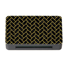 Brick2 Black Marble & Yellow Denim (r) Memory Card Reader With Cf by trendistuff