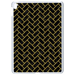Brick2 Black Marble & Yellow Denim (r) Apple Ipad Pro 9 7   White Seamless Case by trendistuff