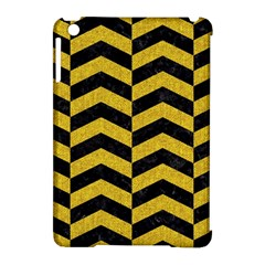 Chevron2 Black Marble & Yellow Denim Apple Ipad Mini Hardshell Case (compatible With Smart Cover) by trendistuff