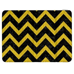 Chevron9 Black Marble & Yellow Denim (r) Samsung Galaxy Tab 7  P1000 Flip Case by trendistuff