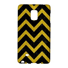 Chevron9 Black Marble & Yellow Denim (r) Galaxy Note Edge
