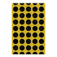 Circles1 Black Marble & Yellow Denim Shower Curtain 48  X 72  (small)  by trendistuff