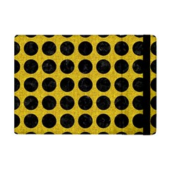 Circles1 Black Marble & Yellow Denim Apple Ipad Mini Flip Case