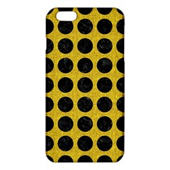 Circles1 Black Marble & Yellow Denim Iphone 6 Plus/6s Plus Tpu Case by trendistuff