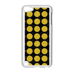 Circles1 Black Marble & Yellow Denim (r) Apple Ipod Touch 5 Case (white) by trendistuff