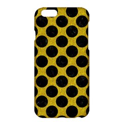 Circles2 Black Marble & Yellow Denim Apple Iphone 6 Plus/6s Plus Hardshell Case by trendistuff