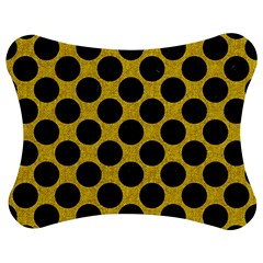 Circles2 Black Marble & Yellow Denim Jigsaw Puzzle Photo Stand (bow) by trendistuff