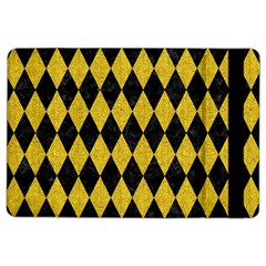 Diamond1 Black Marble & Yellow Denim Ipad Air 2 Flip by trendistuff