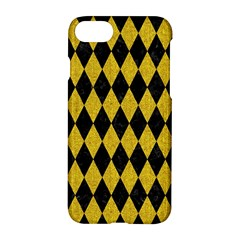 Diamond1 Black Marble & Yellow Denim Apple Iphone 8 Hardshell Case by trendistuff