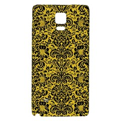 Damask2 Black Marble & Yellow Denim Galaxy Note 4 Back Case by trendistuff