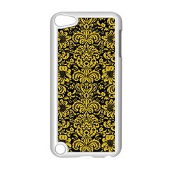 Damask2 Black Marble & Yellow Denim (r) Apple Ipod Touch 5 Case (white) by trendistuff