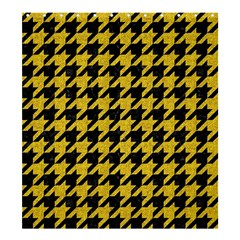 Houndstooth1 Black Marble & Yellow Denim Shower Curtain 66  X 72  (large)  by trendistuff