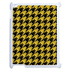 Houndstooth1 Black Marble & Yellow Denim Apple Ipad 2 Case (white) by trendistuff