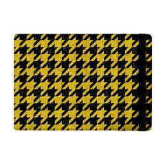 Houndstooth1 Black Marble & Yellow Denim Apple Ipad Mini Flip Case by trendistuff