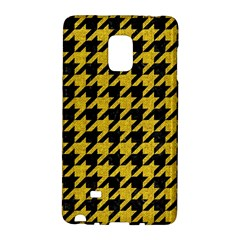 Houndstooth1 Black Marble & Yellow Denim Galaxy Note Edge