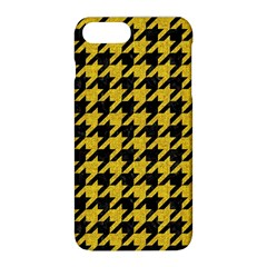 Houndstooth1 Black Marble & Yellow Denim Apple Iphone 8 Plus Hardshell Case by trendistuff