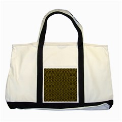 Hexagon1 Black Marble & Yellow Denim (r) Two Tone Tote Bag by trendistuff