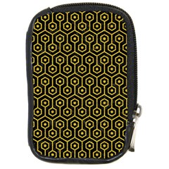 Hexagon1 Black Marble & Yellow Denim (r) Compact Camera Cases by trendistuff