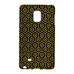 Hexagon1 Black Marble & Yellow Denim (r) Galaxy Note Edge by trendistuff