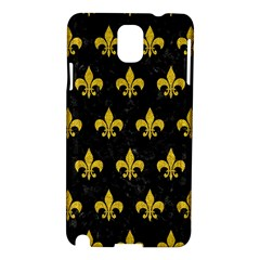 Royal1 Black Marble & Yellow Denim Samsung Galaxy Note 3 N9005 Hardshell Case by trendistuff