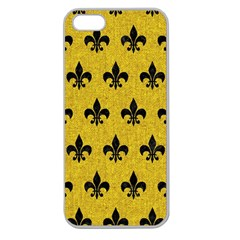 Royal1 Black Marble & Yellow Denim (r) Apple Seamless Iphone 5 Case (clear) by trendistuff