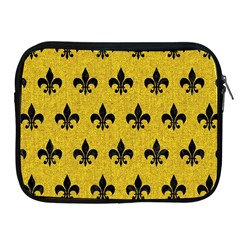 Royal1 Black Marble & Yellow Denim (r) Apple Ipad 2/3/4 Zipper Cases by trendistuff
