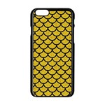 SCALES1 BLACK MARBLE & YELLOW DENIM Apple iPhone 6/6S Black Enamel Case Front