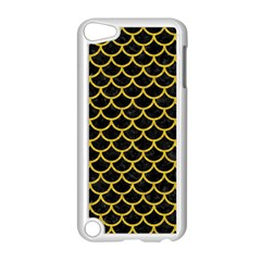 Scales1 Black Marble & Yellow Denim (r) Apple Ipod Touch 5 Case (white) by trendistuff