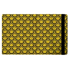 Scales2 Black Marble & Yellow Denim Apple Ipad 2 Flip Case by trendistuff