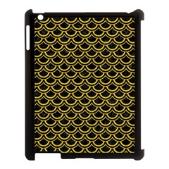 Scales2 Black Marble & Yellow Denim (r) Apple Ipad 3/4 Case (black) by trendistuff