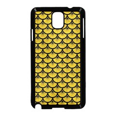 Scales3 Black Marble & Yellow Denim Samsung Galaxy Note 3 Neo Hardshell Case (black) by trendistuff