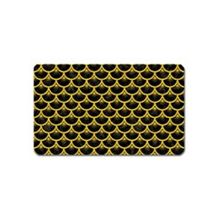 Scales3 Black Marble & Yellow Denim (r) Magnet (name Card) by trendistuff